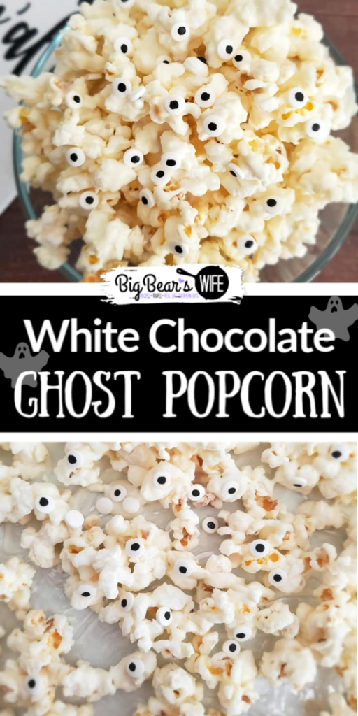 Ghost Popcorn - White Chocolate Popcorn - Perfect for Halloween Parties or Spooky lunch boxes, this Ghost Popcorn - White Chocolate Popcorn is easy to make and frightfully cute!