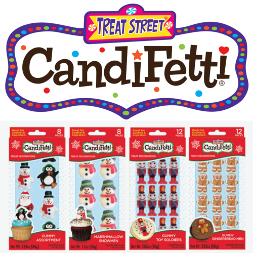 Treat Street CandiFetti with set of Holiday Treat Decorations.