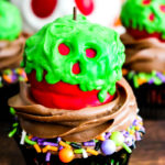 Poison Apple Cupcakes #HalloweenTreatsWeek