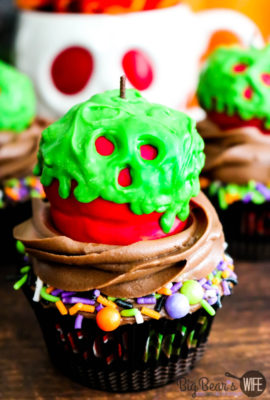 Poison Apple Cupcakes