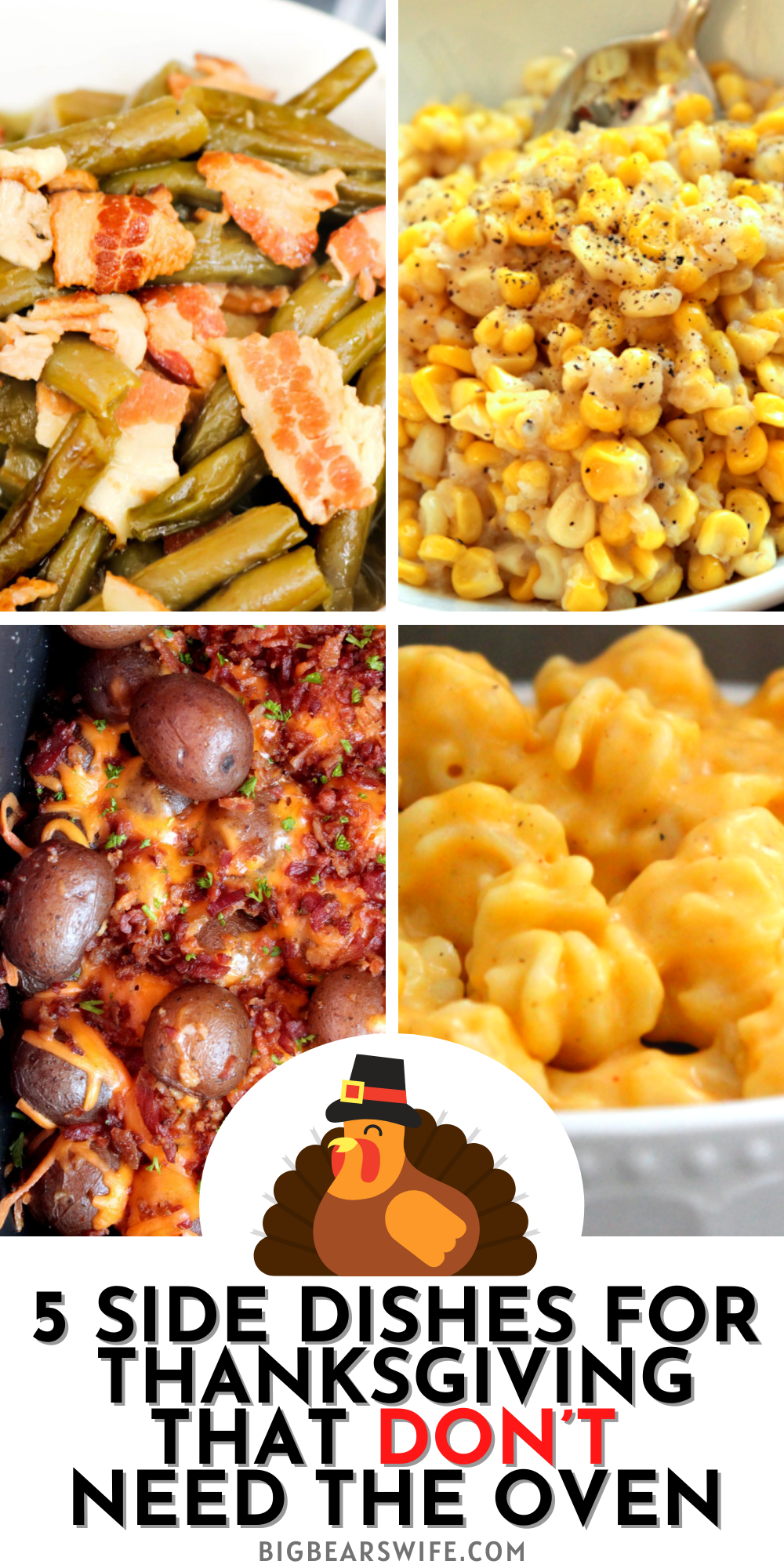 Oven packed to the rim with Turkey and Ham for Thanksgiving? Here are 5 Side Dishes for Thanksgiving that DON'T need the oven!