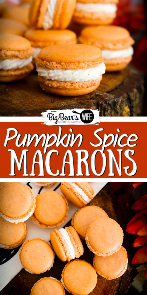 Pumpkin Spice Macarons - Ready for a homemade macaron that is perfect for Fall and Thanksgiving? These Pumpkin Spice Macarons have pumpkin spice in the cookie shell and are filled with a vanilla bean buttercream.