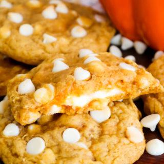 Cheesecake Stuffed Pumpkin Cookies