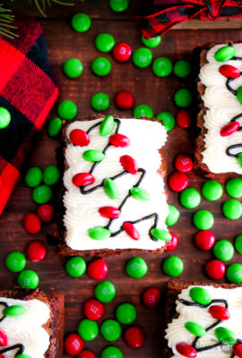 Christmas Light Brownies