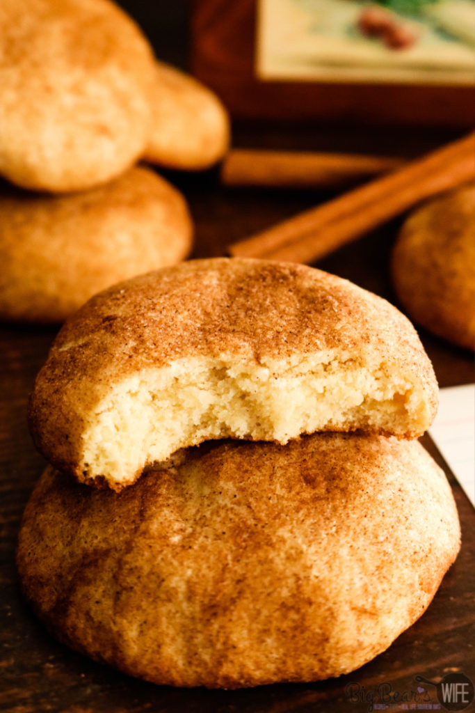 Classic Old Fashioned Snickerdoodles - Classic Old Fashioned Snickerdoodles need to be a part of everyone's recipe box! Made with shortening and rolled in cinnamon sugar for a classic sweet bite!