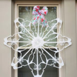 Dollar Tree Plastic Clothes Hanger Snowflake