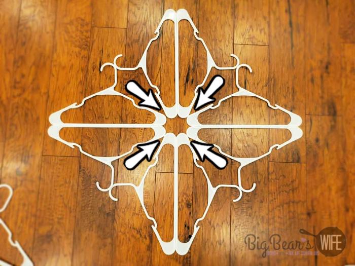 Diy Dollar Tree Snowflake Clothes Hanger Craft Big Bear