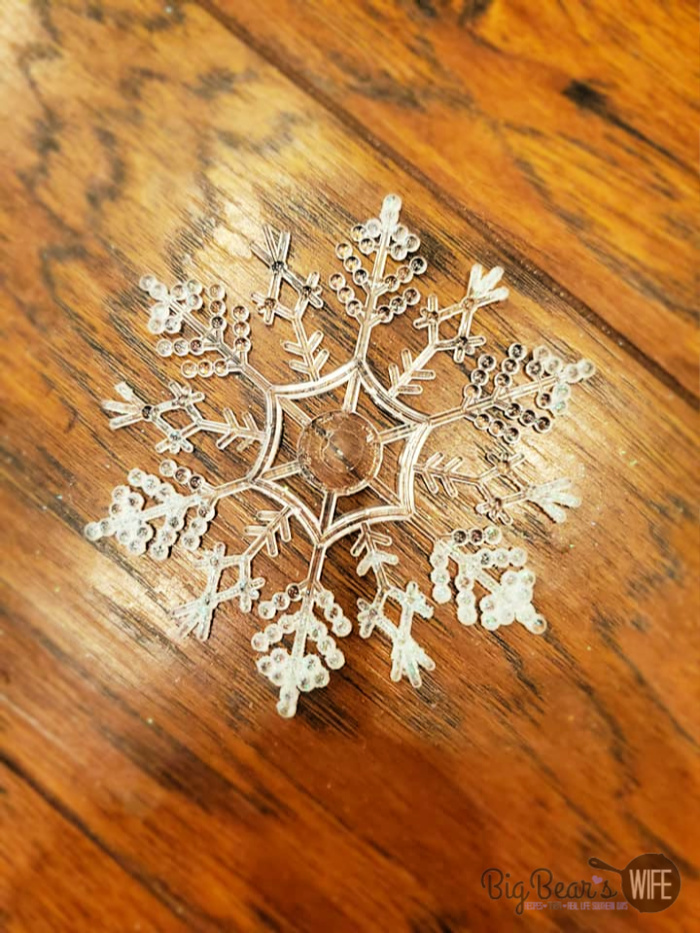 small Dollar Tree Snowflake Ornament