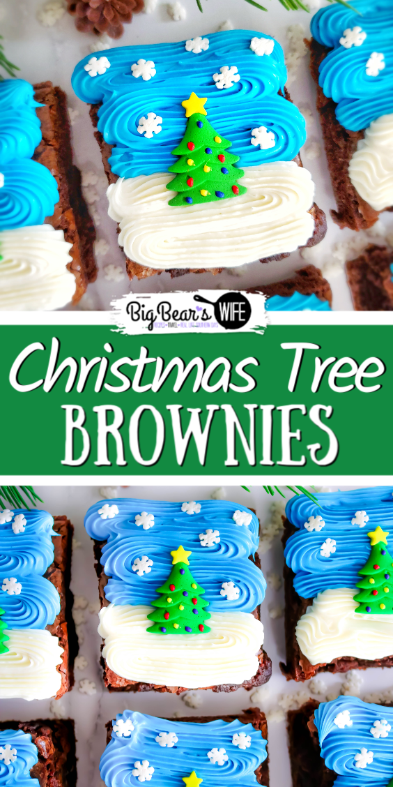 Easy Christmas Tree Brownies - These Easy Christmas Tree Brownies are super festive and simple to make! Use your favorite brownie recipe, a boxed mix or brownies from the bakery to create these Christmas treats!