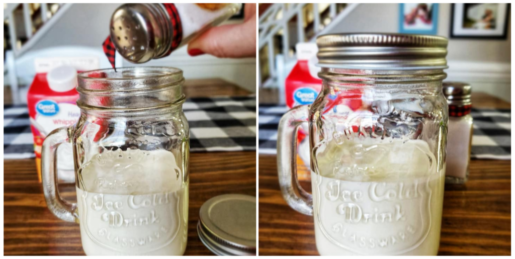 Adding salt to cream