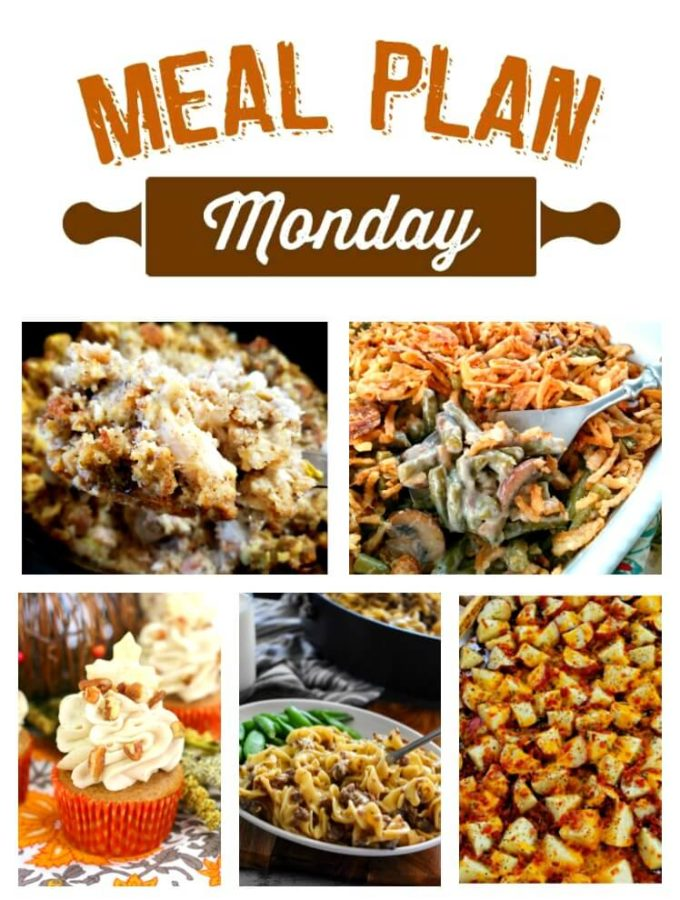 We've just rolled into November and on our way to the holidays! Each week at Meal Plan Monday, you'll find tasty recipes to inspire your week, as well as some great holiday recipes.