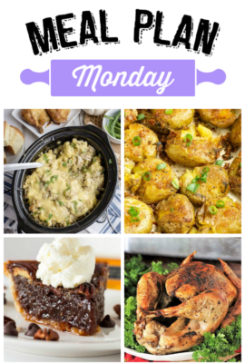 Meal Plan Monday #191 – Thanksgiving Edition