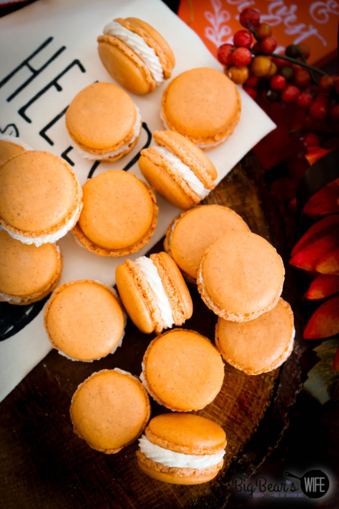 Pumpkin Spice Macarons