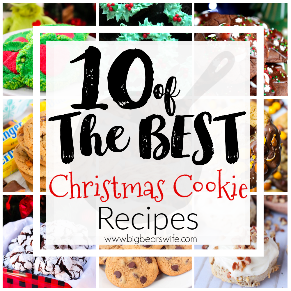 10 of the Best Christmas Cookie Recipes - If you love baking for the Holidays then you've found the right cookie post! Here you'll find 10 of the best Christmas cookie recipes that are perfect for Cookie Swaps, neighbor gifts, holiday bake sales and great for Santa!