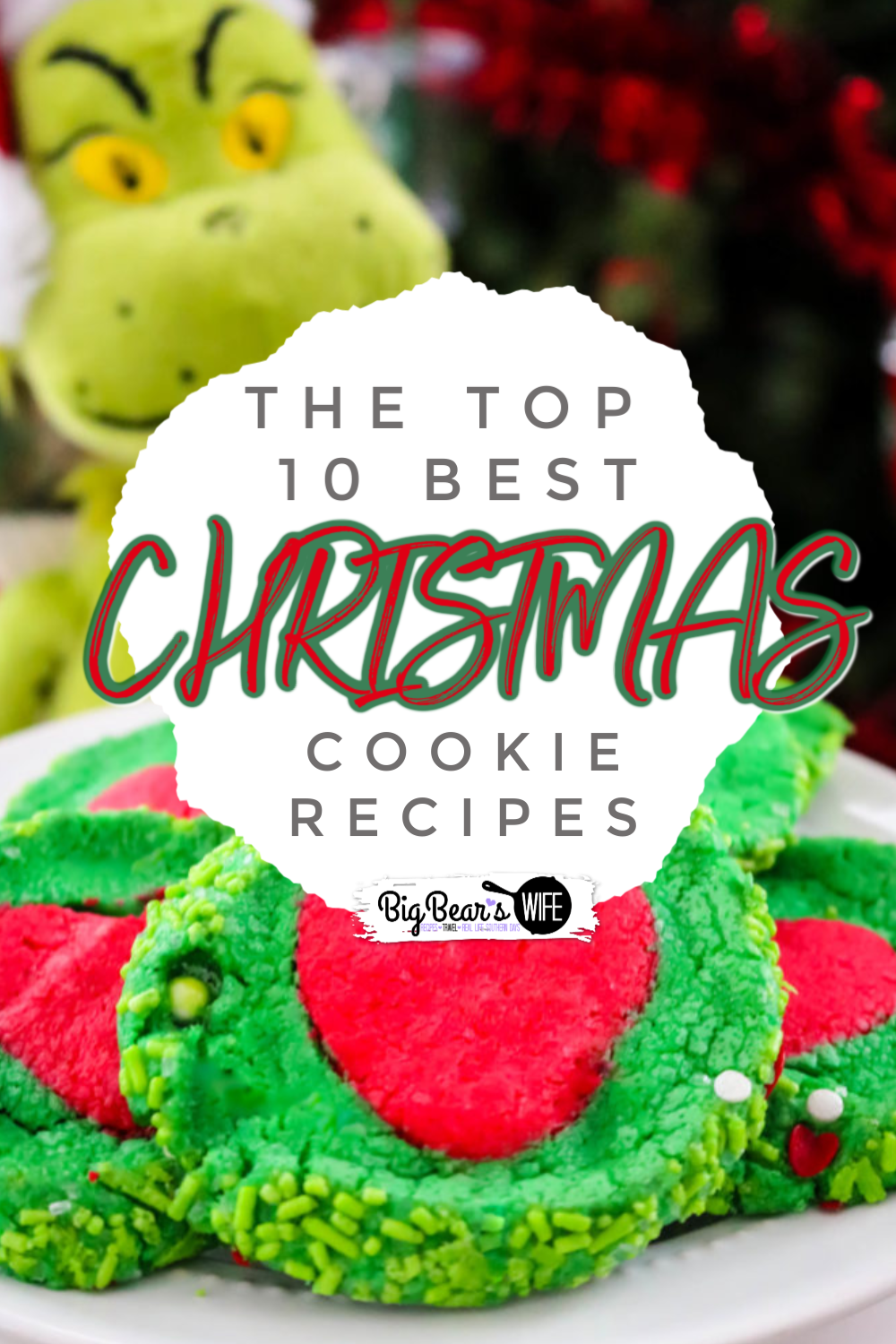 10 of the Best Christmas Cookie Recipes - If you love baking for the Holidays then you've found the right cookie post! Here you'll find 10 of the best Christmas cookie recipes that are perfect for Cookie Swaps, neighbor gifts, holiday bake sales and great for Santa! via @bigbearswife