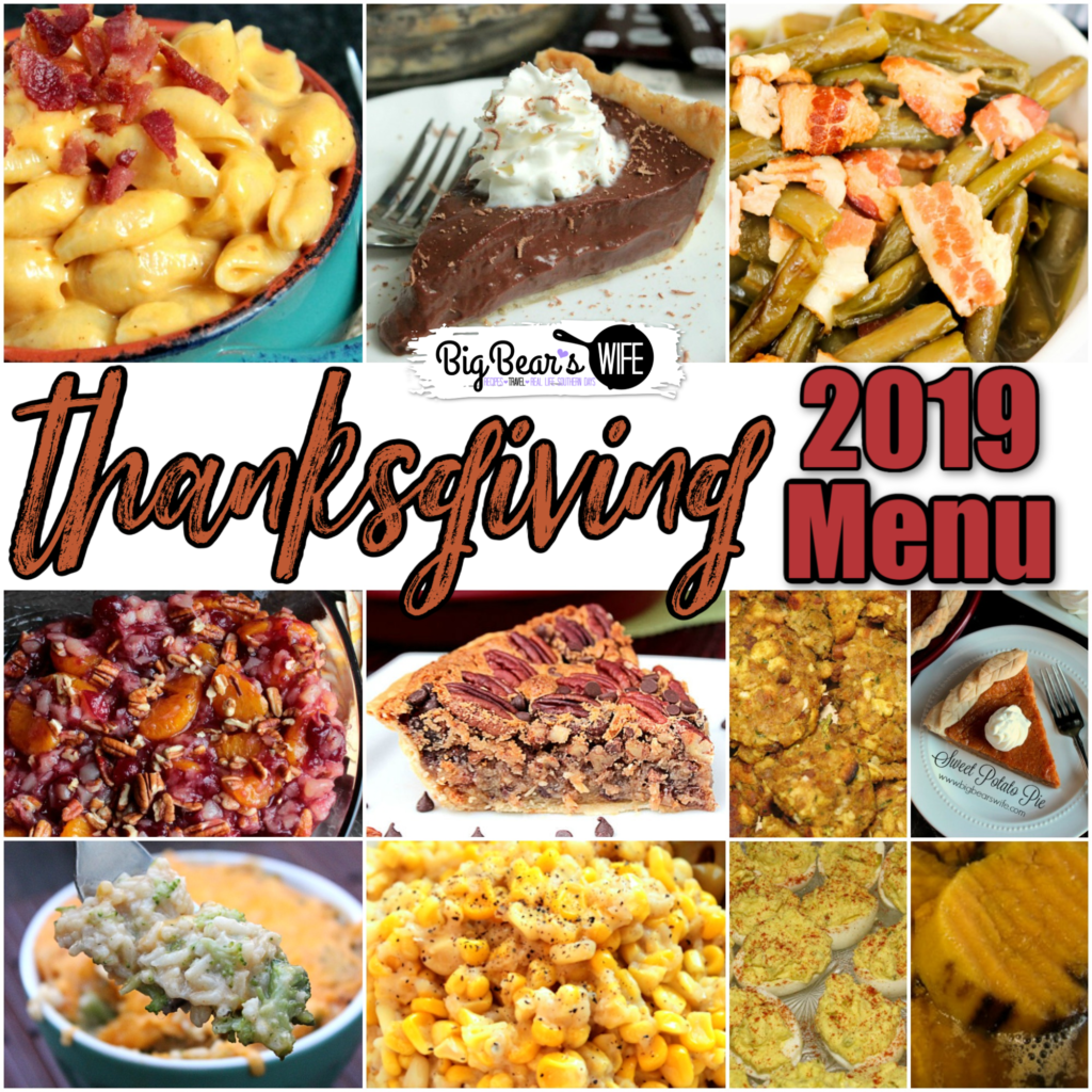 Thanksgiving Menu - We've got our 2019 Thanksgiving Menu planned out and ready to go! Need some ideas? This is what we're having...