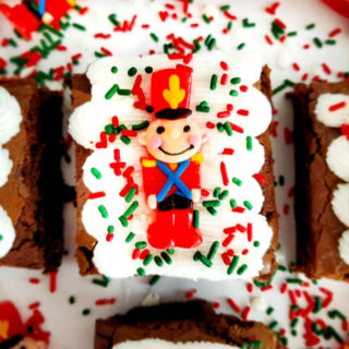 Toy Solider Frosted Brownies