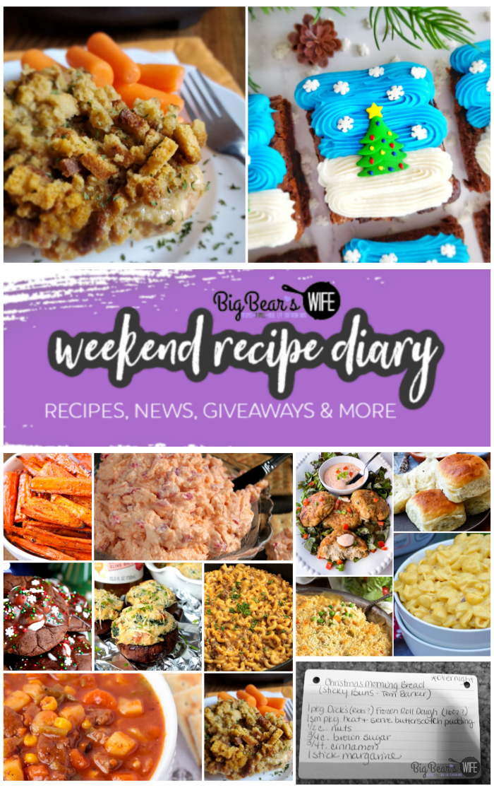 """This weekend's """"Weekend Recipe Diary"""" is packed full! There is a Free Thanksgiving Day Planner, Instant Pot Recipes, Crab Cakes, Homemade Butter in a Jar and More! via @bigbearswife"""