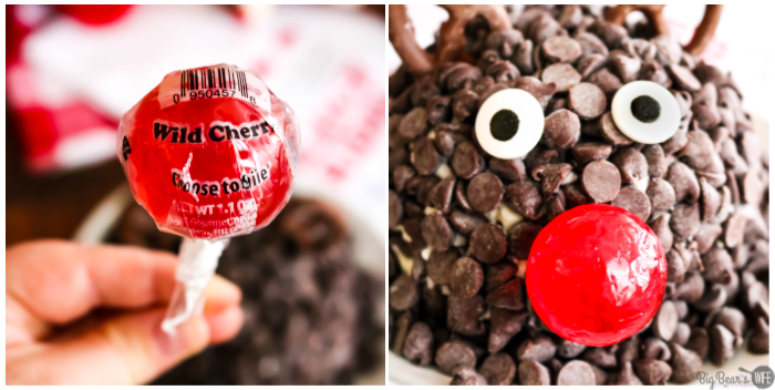 Chocolate Chip Rudolph Cheese Ball