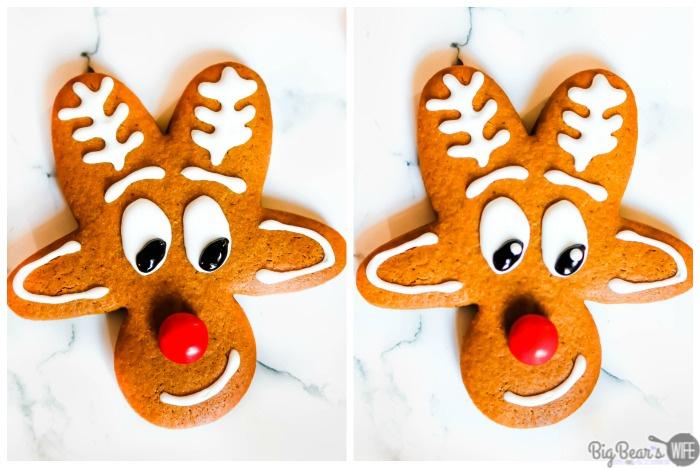 Decorating a reindeer cookie