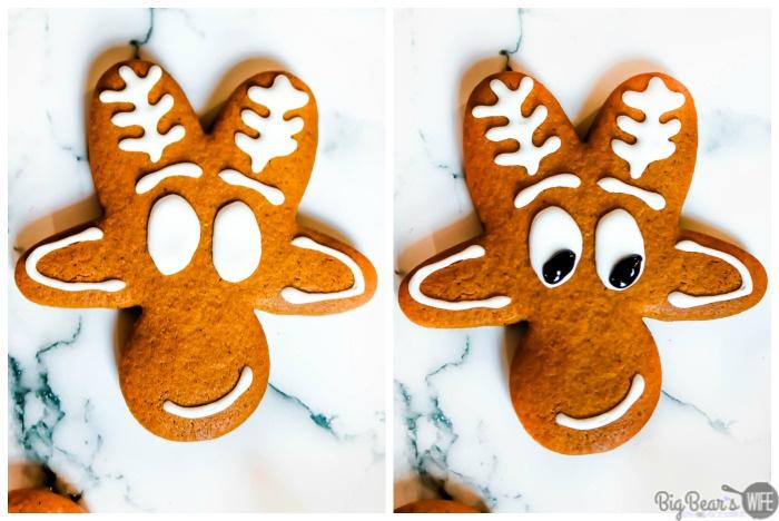 Making a Reindeer Gingerbread Men Cookies - Upside Down Gingerbread Man Reindeer Cookies