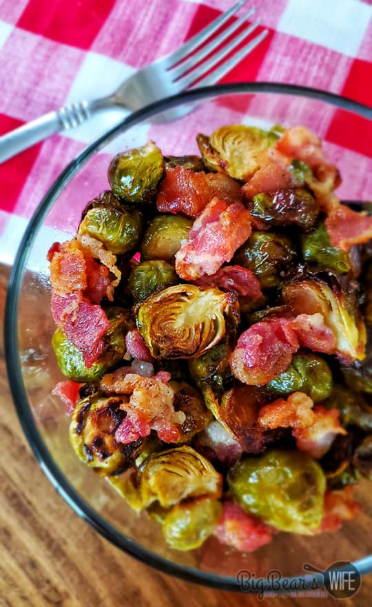 Roasted Brussels Sprouts and Bacon - Roasted Brussels Sprouts and Bacon are a great side dish and perfect for weeknight or weekend dinners! In this post I'll teach you how to pick the best brussels sprouts and how to make a Roasted Brussels Sprouts and Bacon dish that you'll love! These sprouts only take about 30 minutes in the oven and they're so good!
