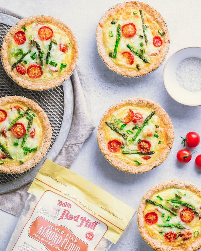 Tomato Asparagus Small Quiches