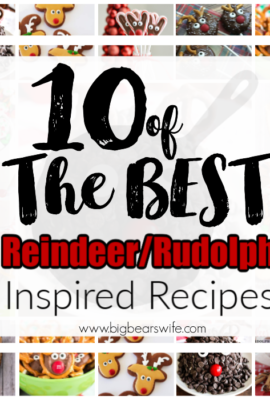 10 of BEST the Reindeer Rudolph Inspired Recipes - There would be no Christmas without Santa's trusty reindeer! Add them to your holiday parties with these fun and festive Reindeer Rudolph Inspired Recipes. Here are 10 of the best Reindeer/Rudolph Inspired Recipes!