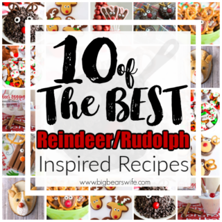 10 of BEST the Reindeer Rudolph Inspired Recipes - There would be no Christmas without Santa's trusty reindeer! Add them to your holiday parties with these fun and festive Reindeer Rudolph Inspired Recipes. Here are 10of the best Reindeer/Rudolph Inspired Recipes!