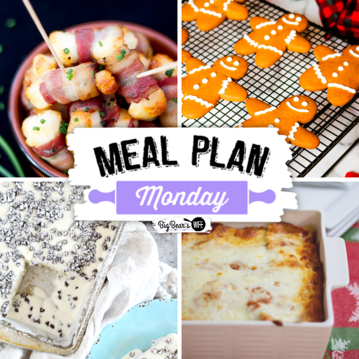This Meal Plan Monday features fun recipes like Easy Bacon Halloumi Bites, Homemade Lasagna, Italian Cannoli-Style Poke Cake and Classic Gingerbread Men Cookies.