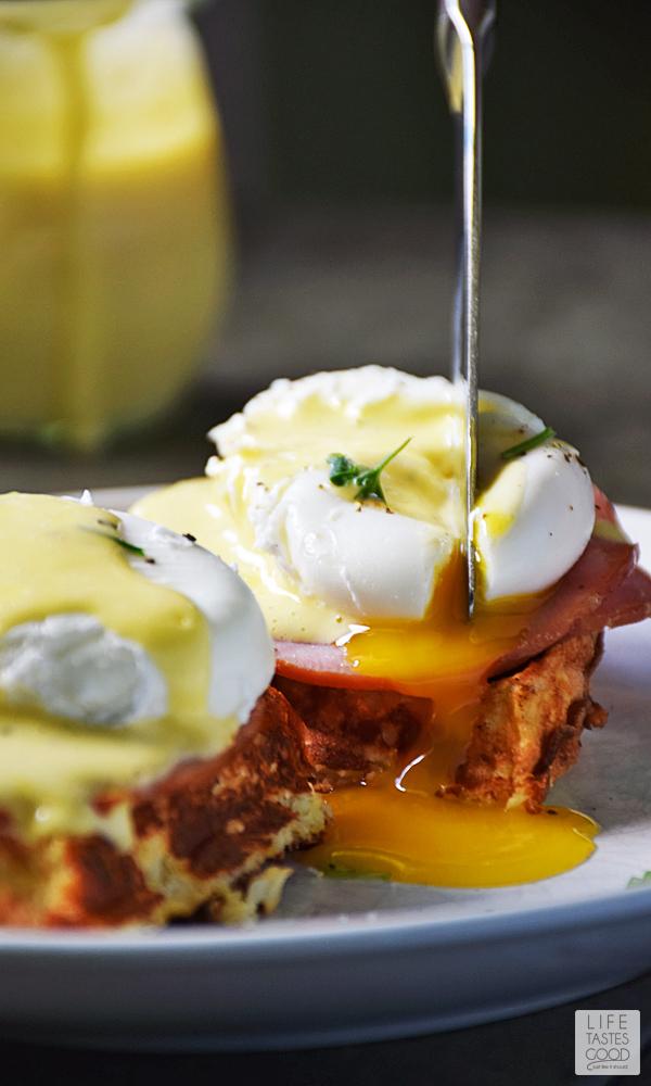 Eggs Benedict Cauliflower Waffles