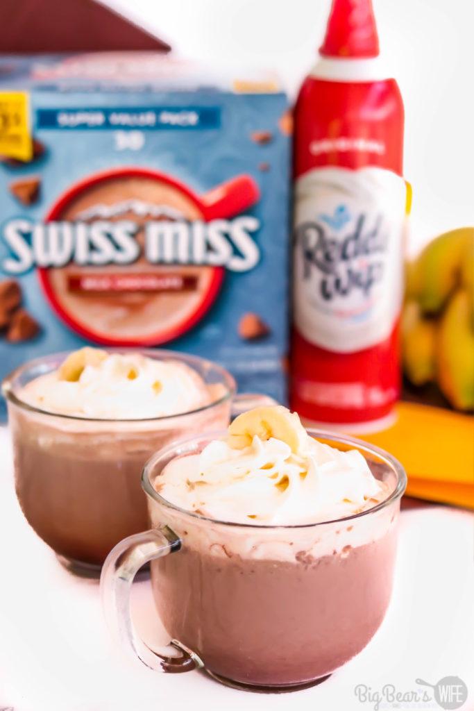 Banana Peanut Butter Hot Chocolate