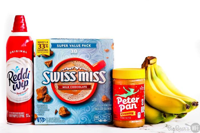 Reddi Wip, Swiss Miss, Peter Pan and Bananas