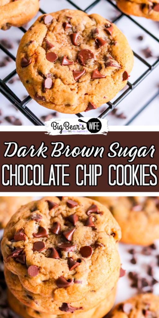 Dark Brown Sugar Chocolate Chip Cookies
