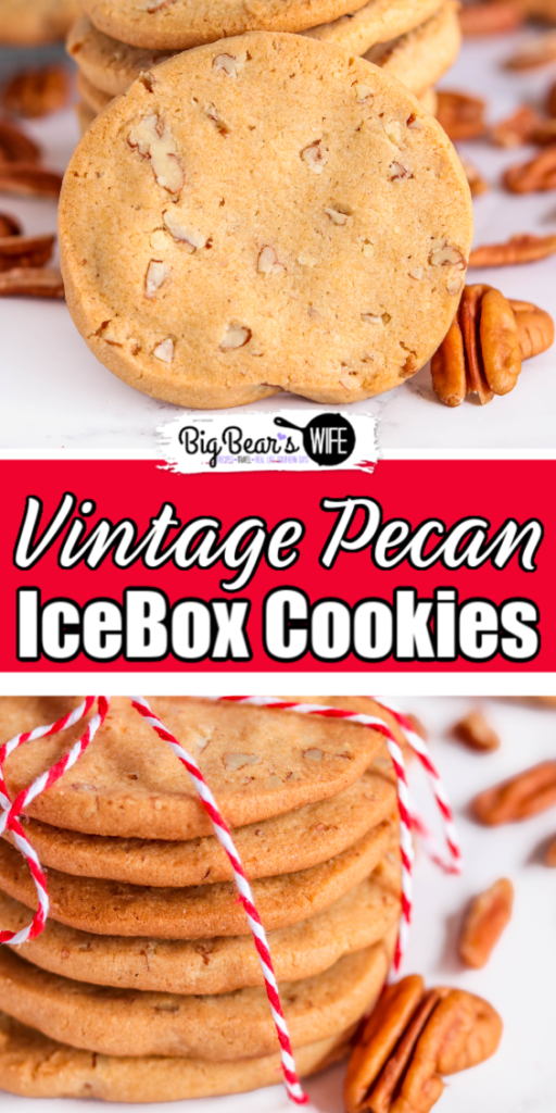 Vintage Pecan IceBox Cookies - These Vintage Pecan Icebox Cookies are a tried and true classic recipe that first appeared in the Imperial Sugar 1930 edition of A Bag Full of Recipes cookbook. Make the dough, and let it chill overnight before slicing and baking this classic cookie that has stood the test of time.