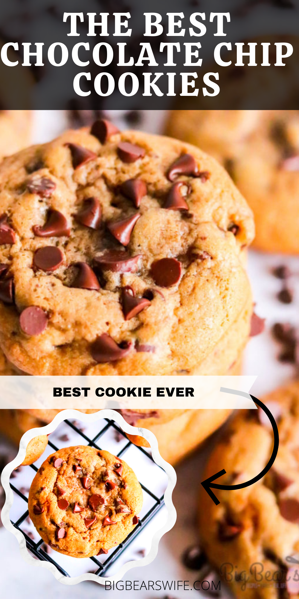 These Dark Brown Sugar Chocolate Chip Cookies might be the best chocolate chip cookie ever. Chilling the dough gives the cookie a soft and chewy texture and they're packed tons of chocolate chips! 