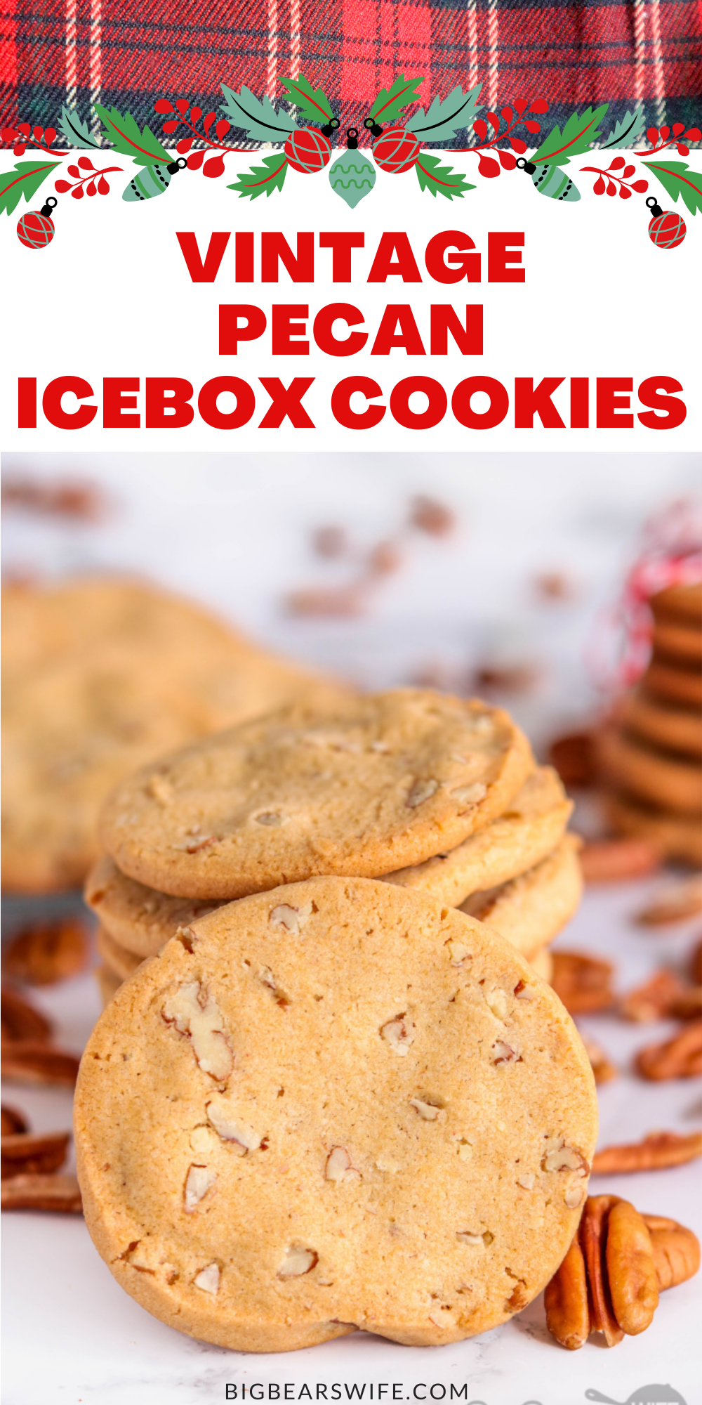 These Vintage Pecan Icebox Cookies are a tried and true classic recipe that first appeared in the Imperial Sugar 1930 edition of A Bag Full of Recipes cookbook. Make the dough, and let it chill overnight before slicing and bakingthisclassic cookie that has stood the test of time. via @bigbearswife