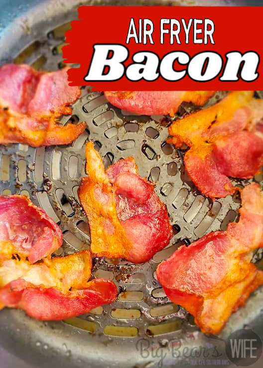 Crisp up delicious bacon without turning the oven on! Use an air fryer to cook perfect crispy bacon with no skillet babysitting!