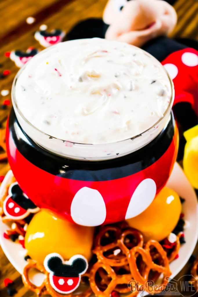 Mickey Mouse Cheesecake Dip