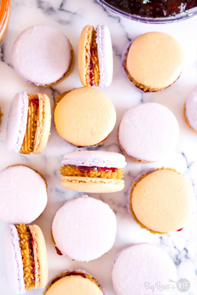 Peanut Butter & Jelly Macarons