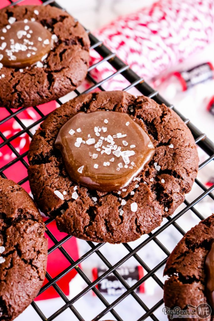 Tootsie Roll Cookies with sea salt