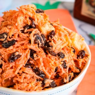 Southern Carrot Raisin Salad - This southern Carrot Raisin Salad tastes like homemade southern coleslaw without the cabbage. It's easy to make and a great side dish for picnics, potlucks, cookouts and Sunday dinners!