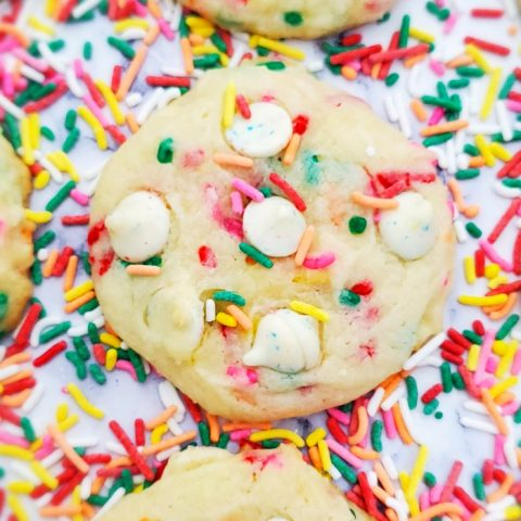 Confetti Birthday Cake Mix Cookies
