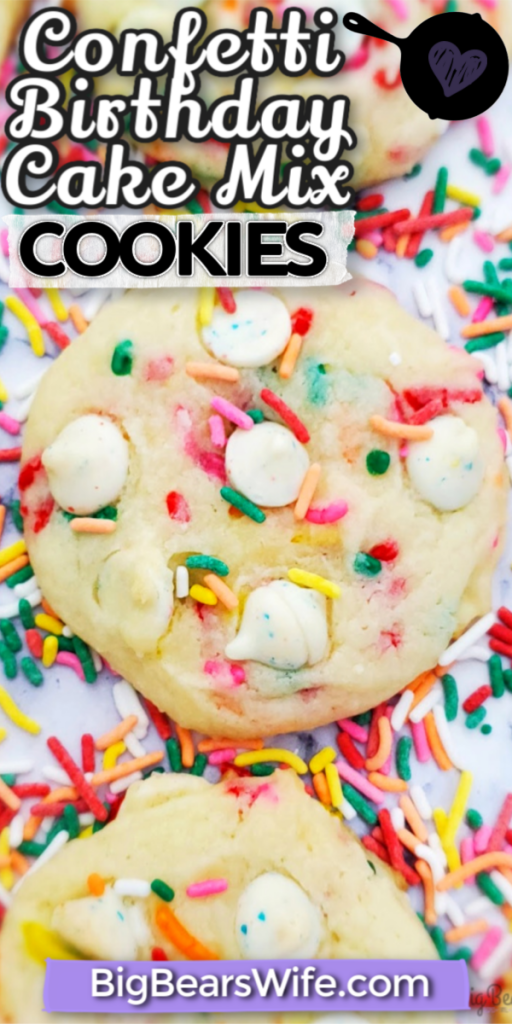 Confetti Birthday Cake Mix Cookies