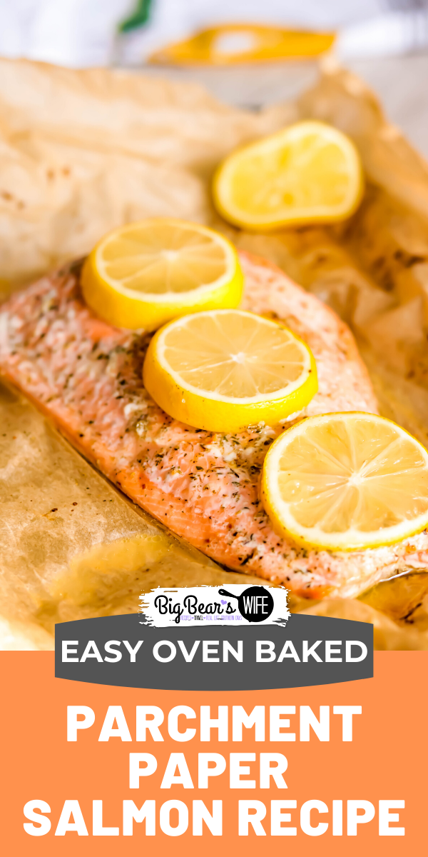 Easy Mediterranean Seasoned Parchment Paper Salmon - Dinner in under 30 minutes! This recipe for Easy Mediterranean Seasoned Parchment Paper Salmon is quick to make and easy to adapt for all kinds of different seasonings. via @bigbearswife