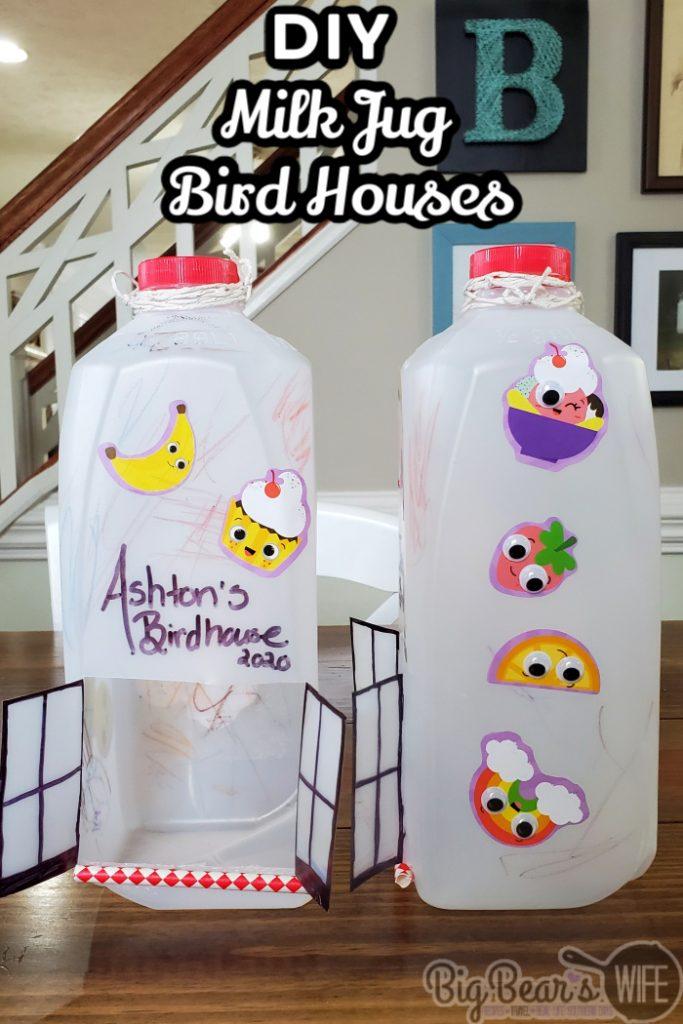 DIY Milk Jug Bird Houses