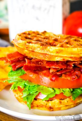 Ranch BLT Chaffle Sandwich