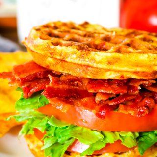 Ranch BLT Chaffle Sandwich
