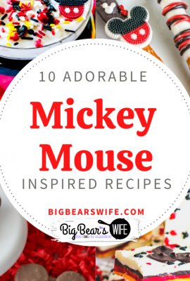 "10 Adorable Mickey Mouse Inspired Recipes -  I'm sure Mickey Mouse is ready to ""See ya Real soon"" but until then, let's make some Mickey Mouse Inspired recipes at home!"