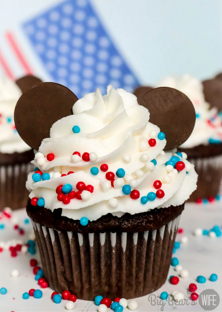 4th of July Mickey Mouse Cupcakes